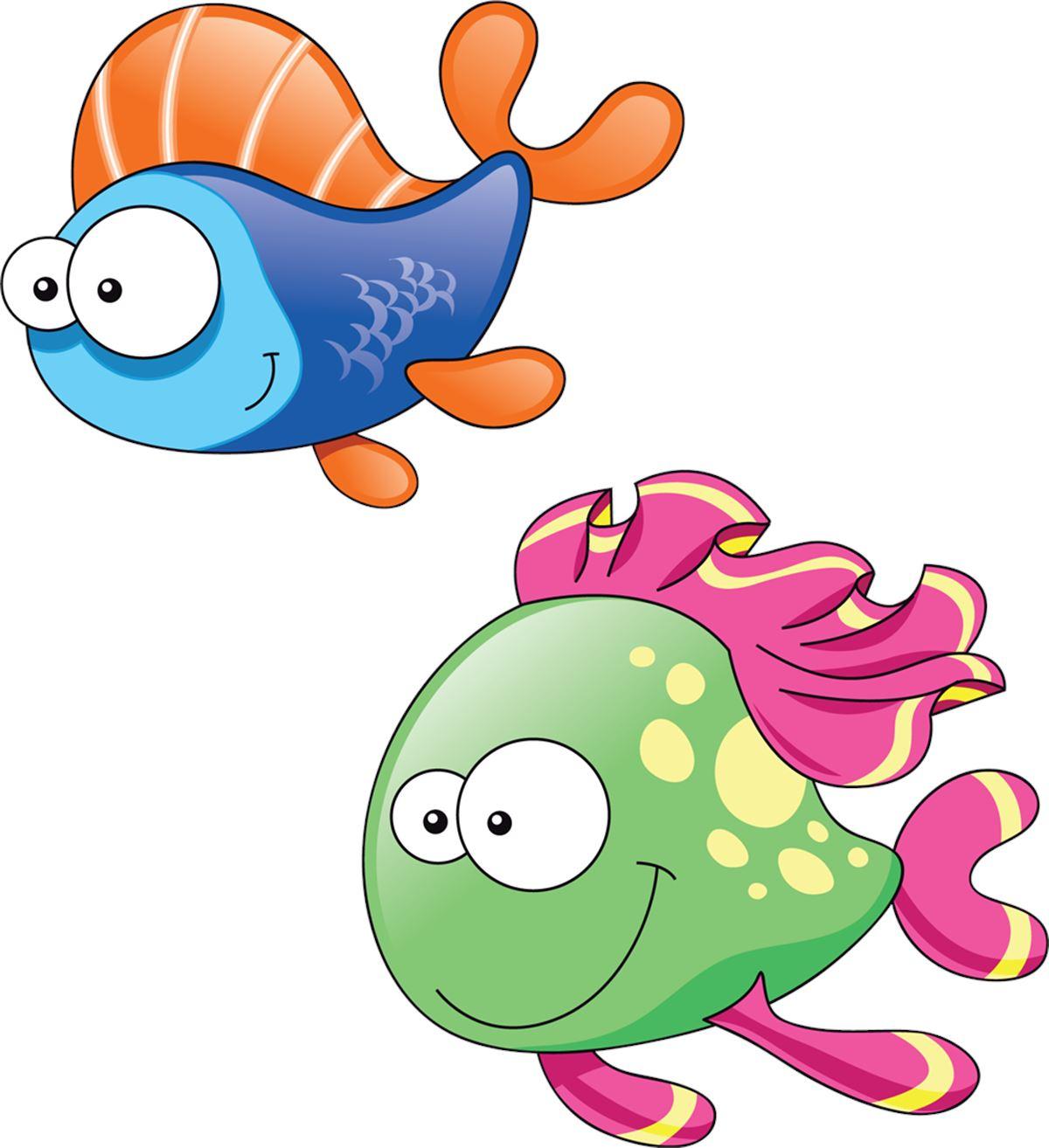 Adesivi murali pesciolini 3 leostickers for Disegno pesce palla